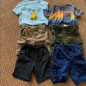 Lot of 6 items- size 6/7 boys shorts and tees